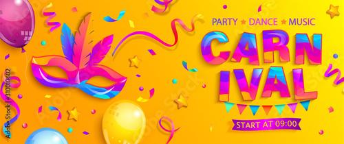Obraz na płótnie Banner for fun carnival party