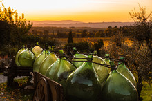 Glass Barrel In A Chianti Land...