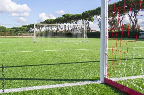 Obraz campo da calcio in erba - fototapety do salonu