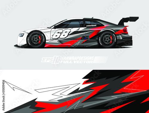 Fototapeta Car wrap design vector