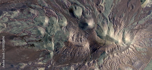 Photo abyssal fauna, stock photo, abstract photography of the deserts of Africa from the air