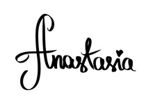 Woman Name Anastasia, Black He...