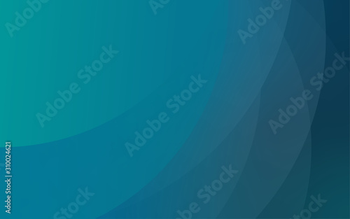 Abstract circular wavy aquamarine blue layout background Canvas Print