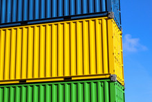 Pile Of Colorful Containers In...