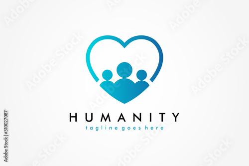 Social Humanity People Logo Wallpaper Mural