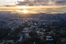 A Serene Sunset Illuminates Th...