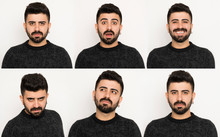 Set Of Facial Expressions Of H...