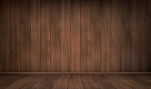 Empty Wooden Room. Vector Real...