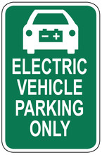 Electric Vehicle Parking Only ...