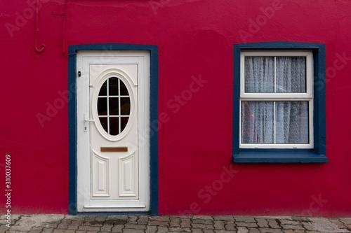Fa�ade of Irish apartment, Kinsale, County Cork, Ireland Canvas Print