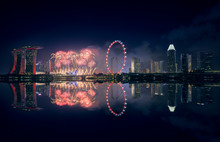 Singapore, Night Firework Disp...