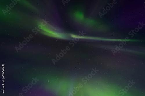 Valokuvatapetti Aurora borealis in night northern sky