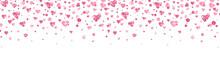 Glitter Heart Confetti Border....