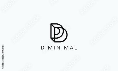 Fototapeta letter d logo design,d minimal logos,d logotype obraz
