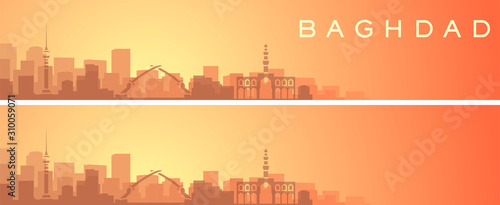 Valokuva  Baghdad Beautiful Skyline Scenery Banner