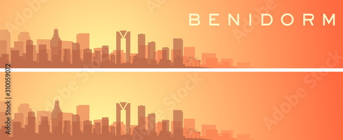 Benidorm Beautiful Skyline Scenery Banner