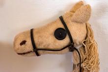 Close Up Toy Horse Head Made O...