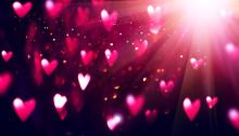 Valentine's Day Purple Backgro...