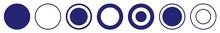 Label Circle Blue | Circles | Logo Sticker | Emblem Round | Icon | Variations