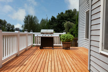 Outdoor Home Deck With Bbq Coo...