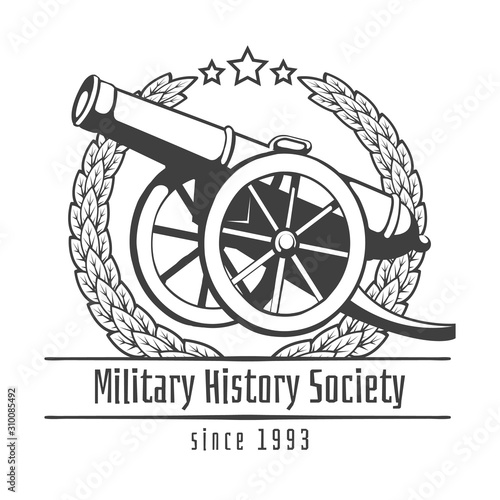 Obraz na plátne Military history society emblem