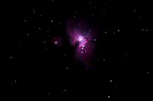 Astronomy Photo Of Orion Nebula With Starry Sky For Background