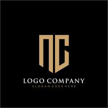 Letter NC Logo Icon Design Template Elements
