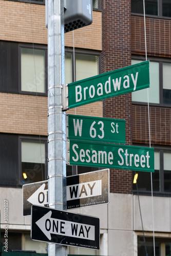 Tela  Sesame Street - New York City