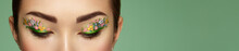 Eye Makeup Girl With A Flowers...