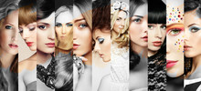 Beauty Collage. Faces Of Women...