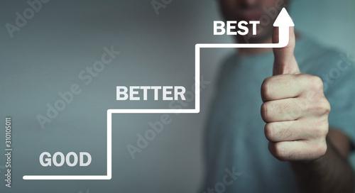 Fototapety, obrazy: Good-Better-Best. Business concept