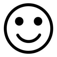 Smiley Face Emoticon / Emoji Line Art Vector Icon For Apps And Websites