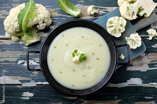 Canvas Print zuppa crema di cavolfiore
