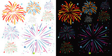 Background Design With Fireworks