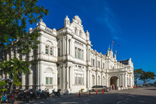 Facade Of City Hall In George Town, Penang, Malaysia