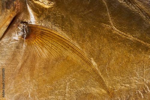 texture close-up of smoked fish Wallpaper Mural
