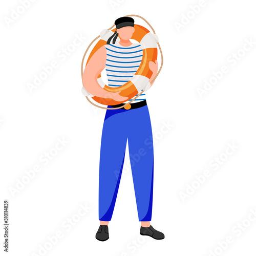 Photo Boatswain flat vector illustration