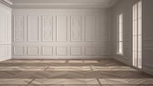 Empty Room Interior Design, Op...
