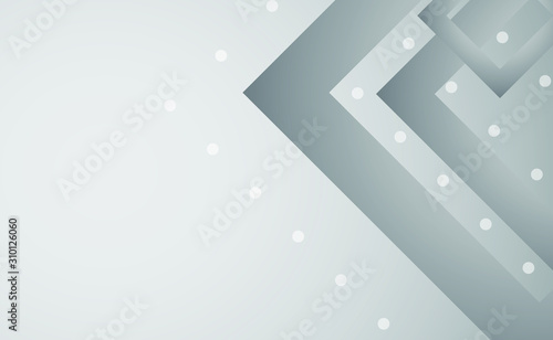 Gray abstract background with modern shapes and gradients. Clip-art illustration