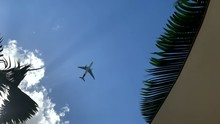 Plane Passing Overhead At Low ...