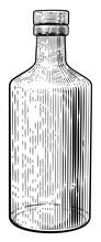 Glass Drinks Bottle In A Vinta...