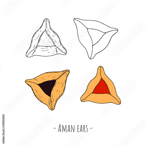 Photo Hand-drawn isolated Aman ears