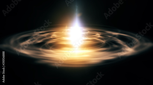 Abstract background of space portals Fototapet