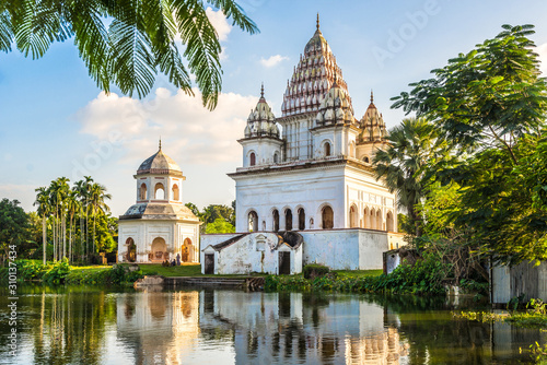 Photo View at the Siva Temple and Roth Mondir buildings in Puthia - Bangladesh