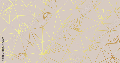 Luxury Golden geometric shape background pattern for wallpaper and packaging design Vector gold texture.
