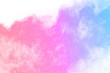 Leinwandbild Motiv Colorful powder explosion on white background.