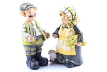 Two Shepherds - Puppets Handmade, Isolated And With Clipping Path