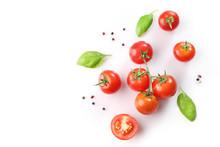 Ripe Red Cherry Tomatos  And B...