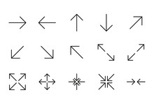 Icon Set Of Arrow.