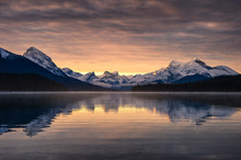 Canadian Rockies With Foggy Re...
